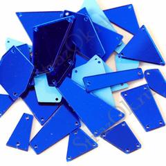 Купить набор больших пришивных зеркал размер XL синие