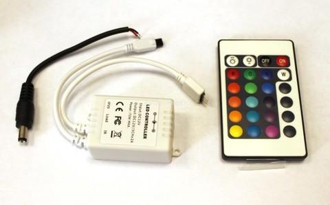 Контроллер RGB 12V. 72W. 6A с цветным пультом, 24 кнопки