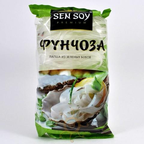 Фунчоза лапша из зеленых бобов широкая Sen Soy, 180г