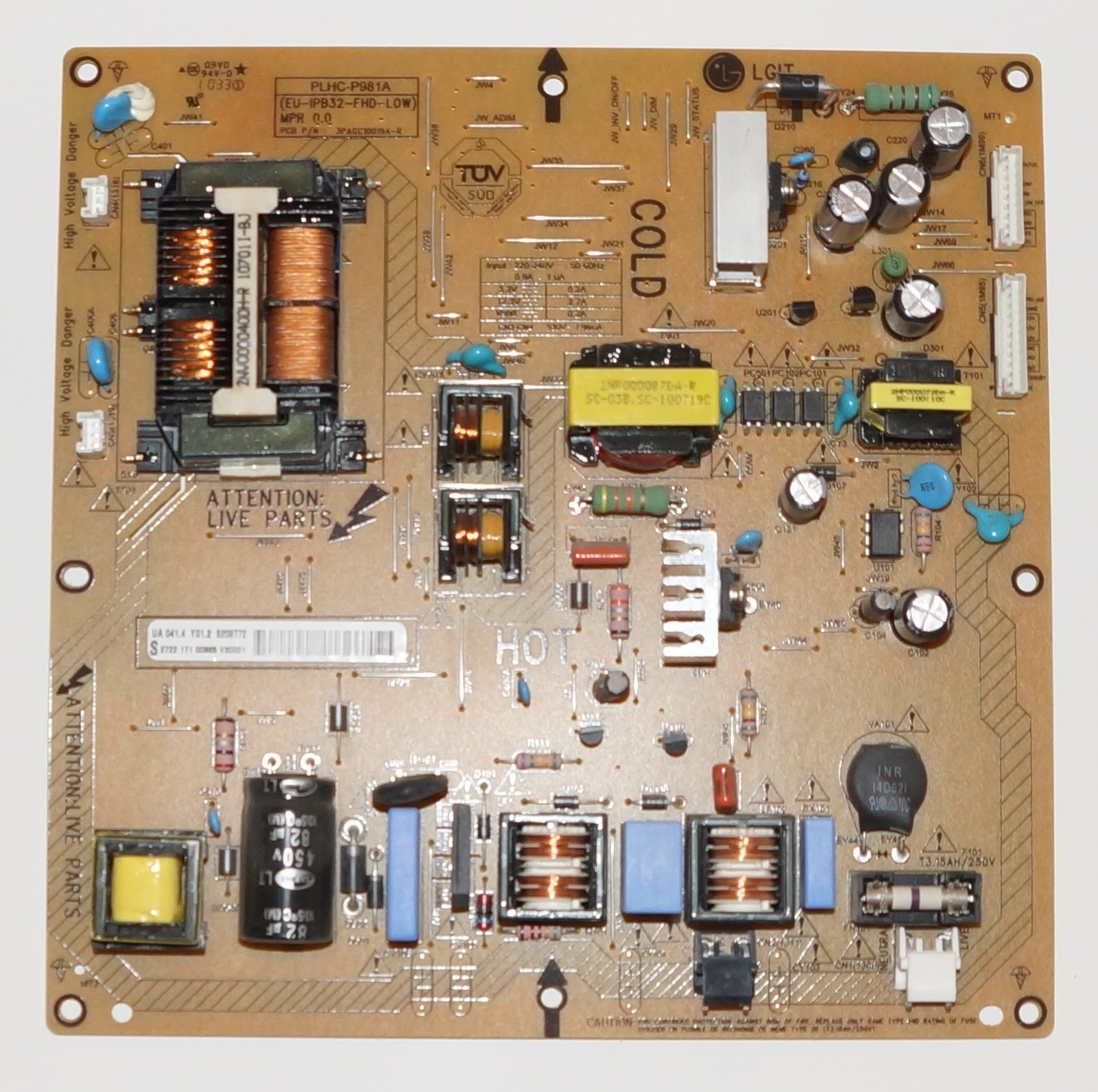 PLHC-P981A 3PAGC10019A 2722 171 00965 блок питания телевизора Philips