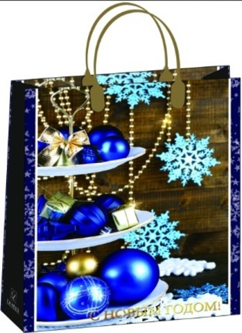 Подарочные пакеты новогодние 32x42+10 из мягкого пластика