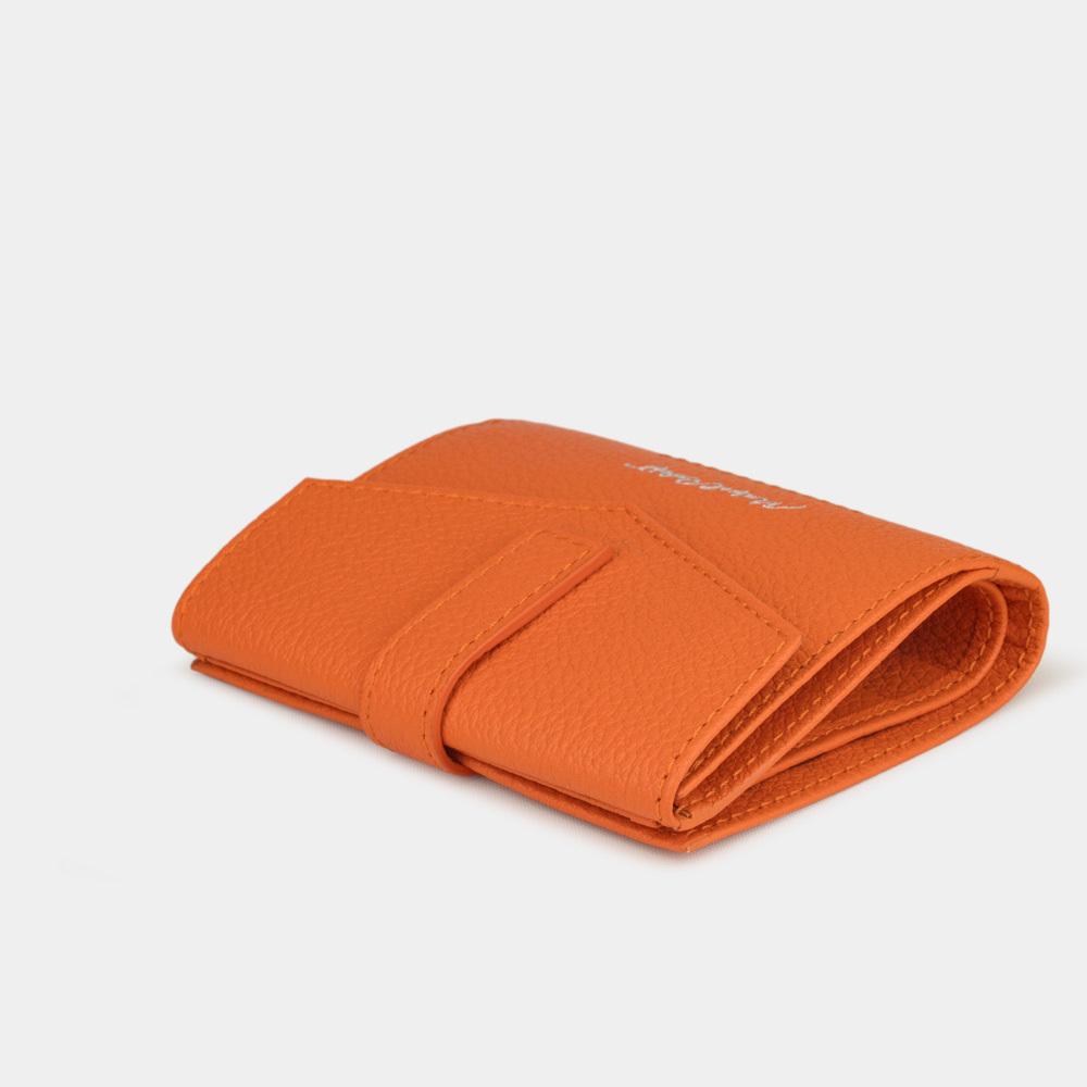 Кошелек женский Tresor Easy из натуральной кожи теленка, оранжевого цвета