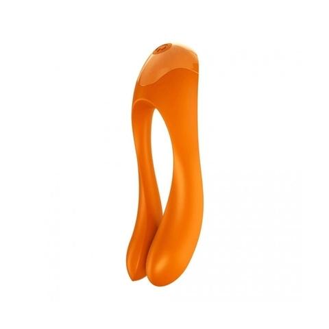 Satisfyer Candy Cane Универсальный массажер для пар Оранжевый