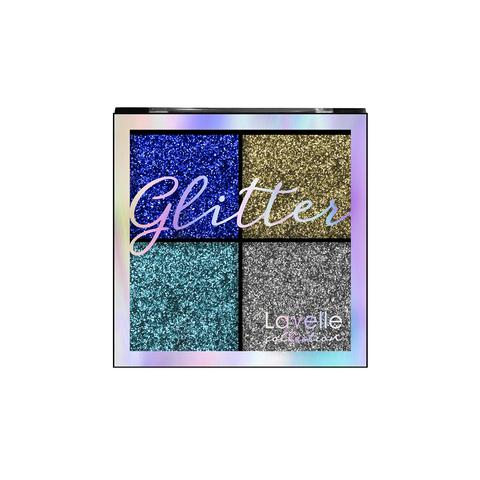 LavelleCollection Тени 4-х цветные для век Glitter тон 01 Королевская роскошь