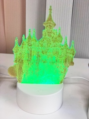 Ночник 3D меняющий цвета