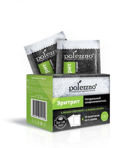 Polezzno Эритрит (натуральный заменитель сахара) в САШЕ 5 г