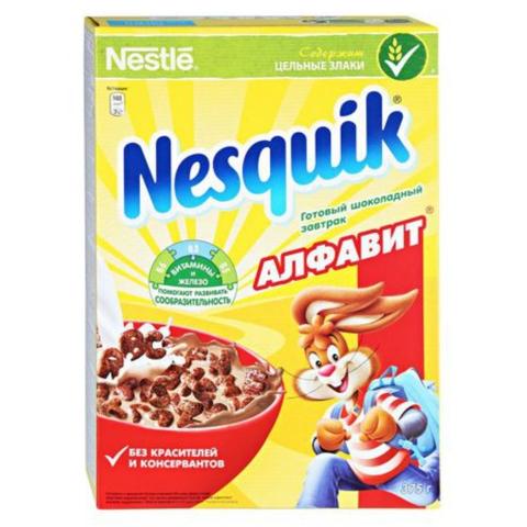 Готовый завтрак NESQUIK Алфавит 375 гр кор Nestle РОССИЯ