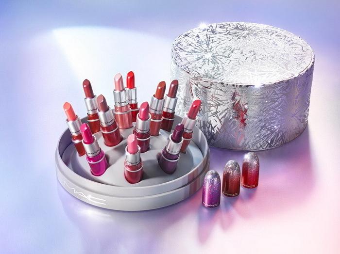 MAC Frosted Firework Surefire Hit mini lipstick vault