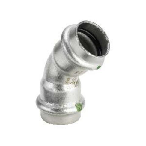 Отвод 45° Sanpress Inox 22, нержавеющая сталь, Viega