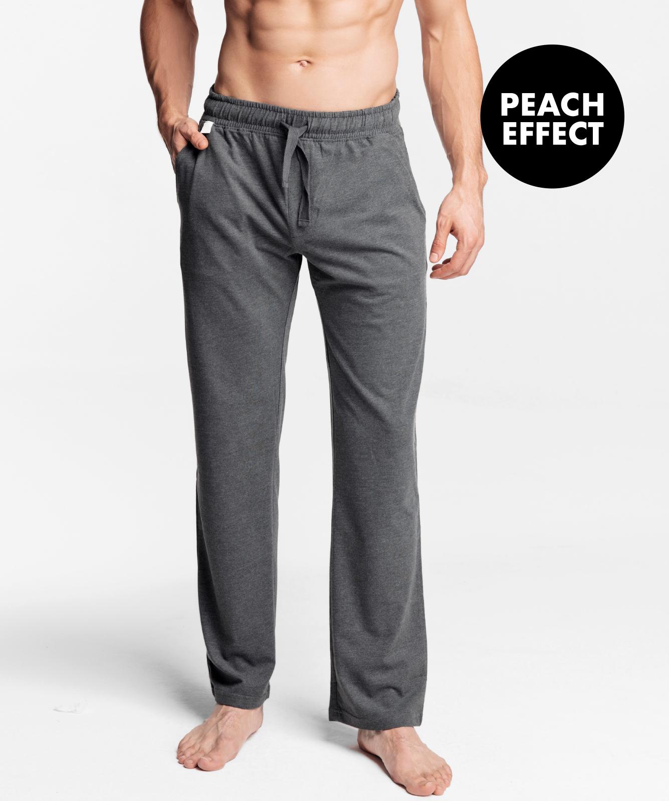 Мужские штаны пижамные Atlantic, 1 шт. в уп., хлопок, серый меланж, NMB-040