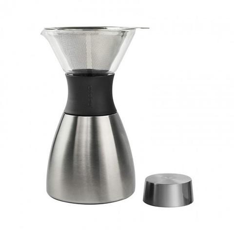 Кофеварка портативная Asobu Pour Over (1 литр), серебристая