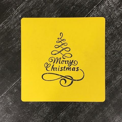 Трафарет новогодний №24 Merry Christmas/Счастливого Рождества