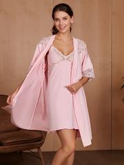 Vivamama. Сорочка для беременных и кормящих Izabel, розовый вид 3
