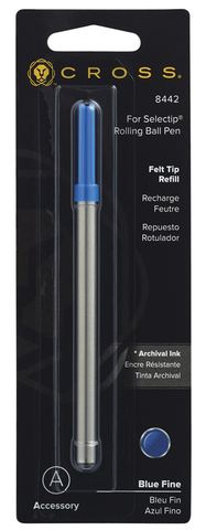 Cross Стержень капиллярный для ручки-роллера Selectip, F, синий123