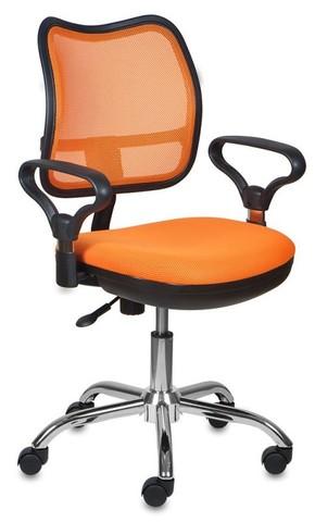 спинка сетка оранжевый сиденье оранжевый TW-96-1 крестовина хром