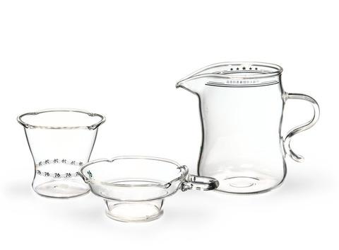 Набор из жаропрочного стекла для заваривания чая«Classic» малый. Интернет магазин чая