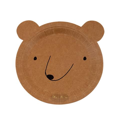 Тарелки медведь