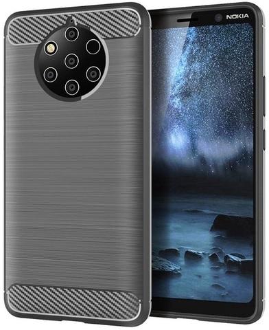 Чехол на Nokia 9 PureView цвет Gray (серый), серия Carbon от Caseport