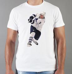 Футболка с принтом НХЛ Торонто Мейпл Лифс (NHL Toronto Maple Leafs) белая 006