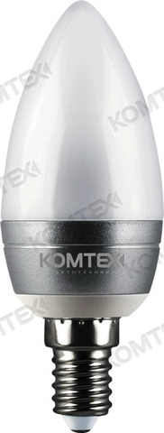 КОМТЕХ Лампа СДЛ-Cс-3-220-830-200-E14 серебро (свеча)