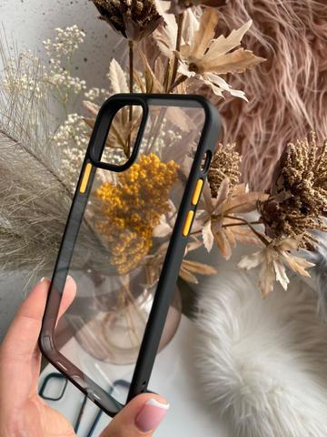Чехол iPhone 12 Pro Max /6,7''/ Rock Guard Series /black yellow/