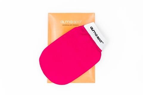 ALMASPA, Рукавица для пилинга розовая