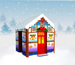 Снежный новогодний домик