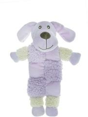 Игрушка для собак, AROMADOG, Собачка 20 см с 3 пищалками сиреневая