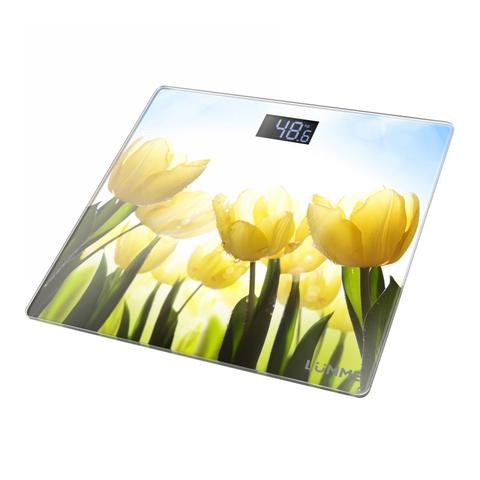 Весы напольные сенсор LUMME LU-1329 {new} тюльпаны