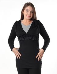 6061 туника женская, черная