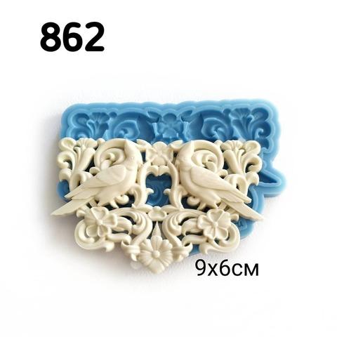Молд Райские птички 9х6см, Арт.PO-0862, силикон