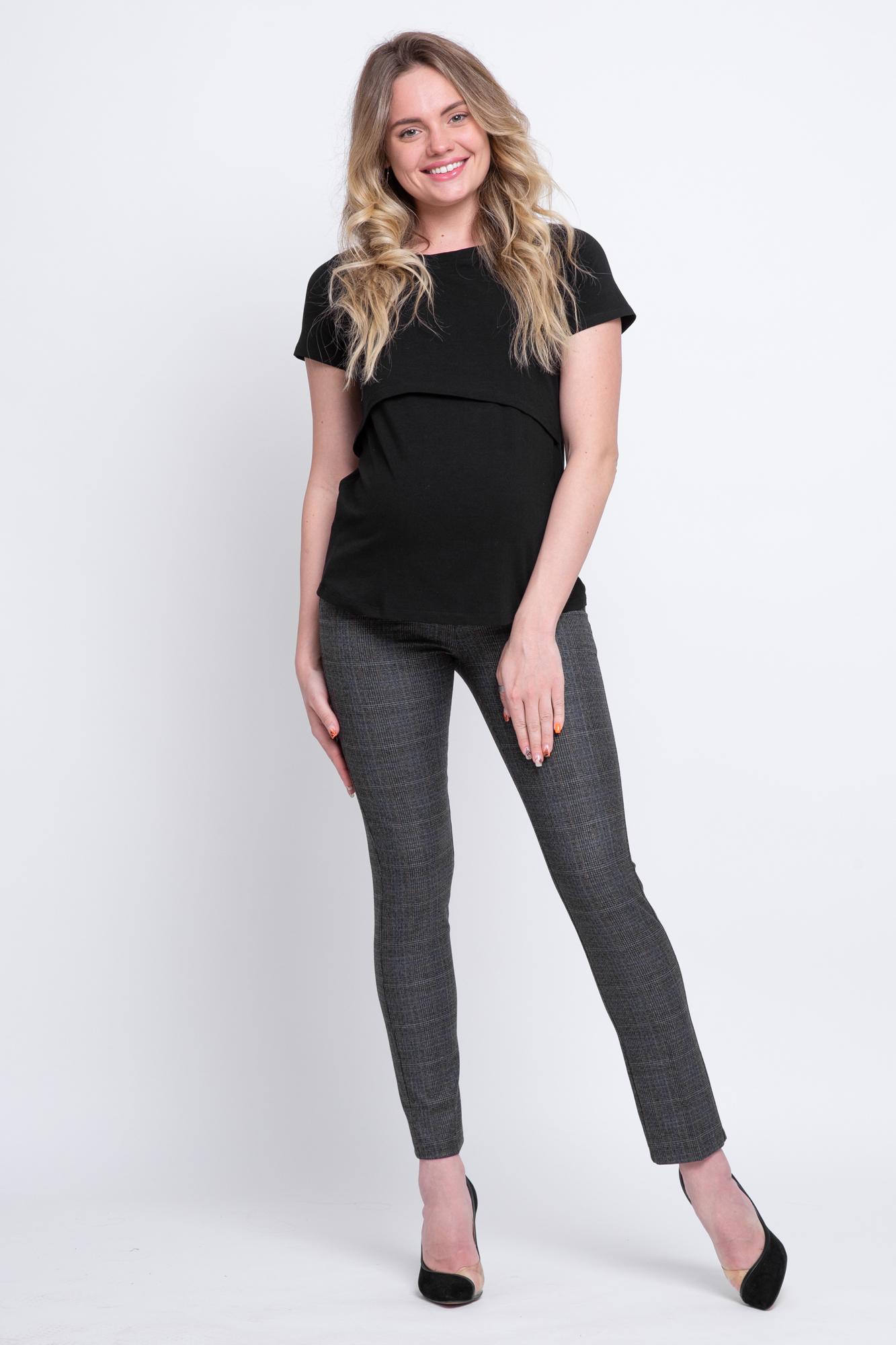 Брюки для беременных 09869 черно-серый