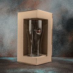 Пивной бокал с пулей «Real bullet»  крафт, 500 мл, фото 2