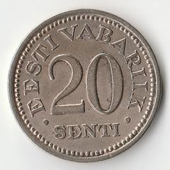 Монета 20 сенти 1935 года.