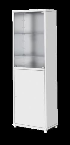 Шкаф металлический двухсекционный одностворчатый МСК - 645.02 - фото