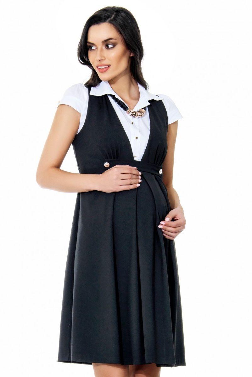 Сарафан для беременных 05484 черный