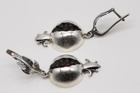Серьги серебряные гранат 1012СИ АР ГРГ Армения