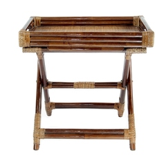 Столик складной с подносом из натурального ротанга