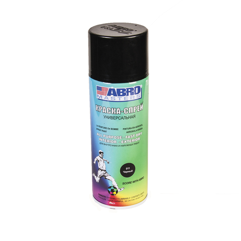 ABRO Краска-спрей Черный глянцевая 400мл