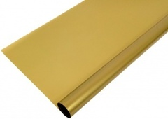 Упаковочная пленка цветочная золотая, матовая (0,7*7,5 м)