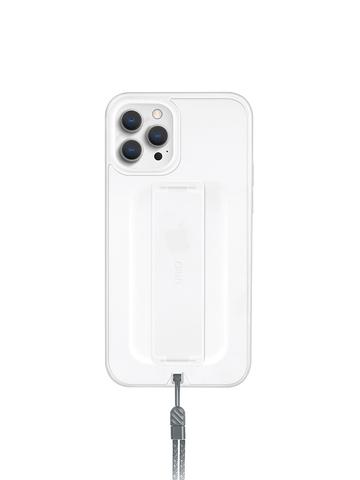 Чехол Uniq HELDRO для iPhone 12 Pro Max | держатель + шнурок анти-микробное покрытие морозный белый