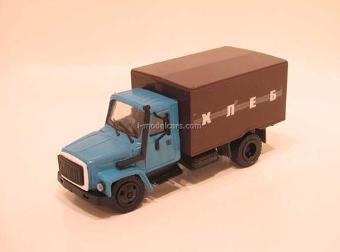 GAZ-3309 Van Bread blue Kompanion 1:43