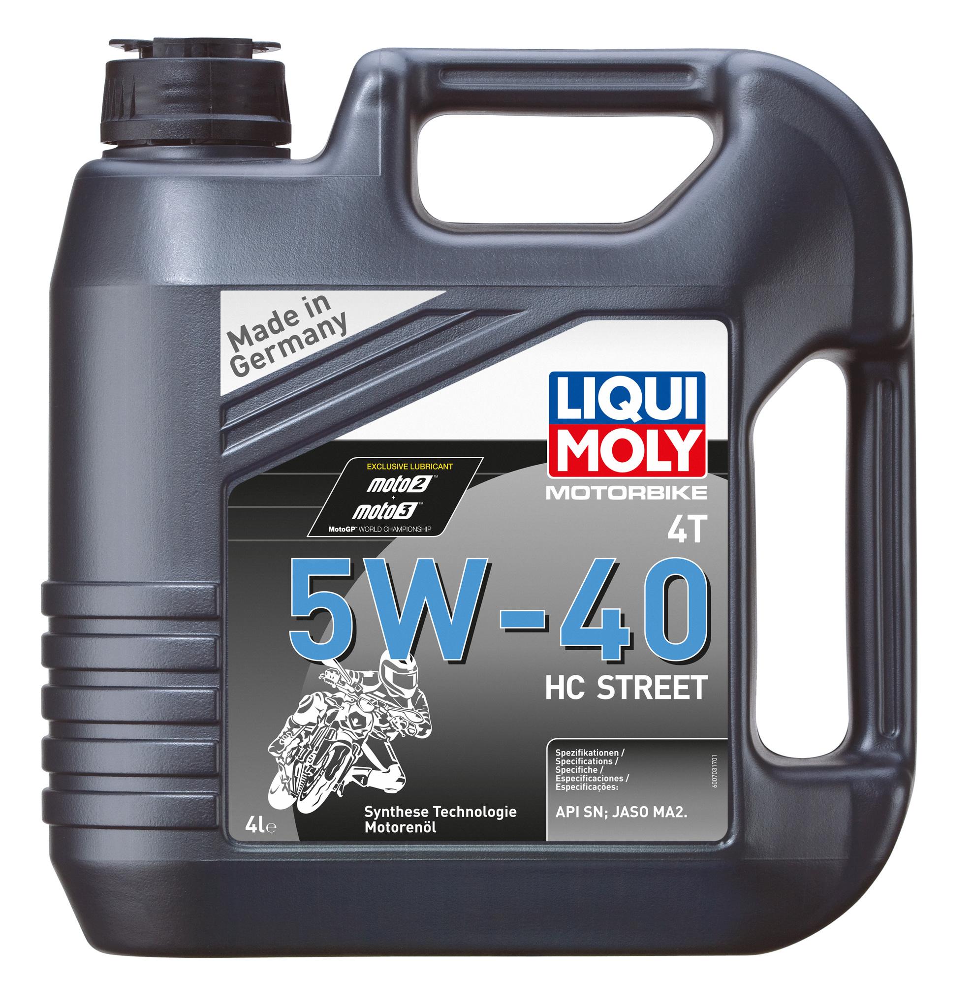 Liqui Moly Motorbike 4T HC Street 5W-40 (4л) - НС-синтетическое моторное масло для 4-тактных мотоциклов