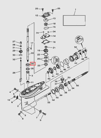 Подшипник для лодочного мотора T40 Sea-PRO (23-34)