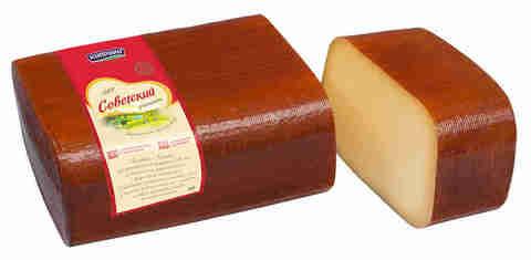 Сыр Советский 50% брус Киприно, твердый МОЛОЧКА ИП ГЛАДИЙ 1кг