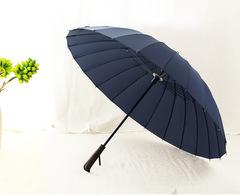 Элегантный зонт трость с деревянной ручкой, 24 спицы OLYCAT (синий)