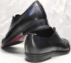Хорошие мужские туфли на выпускной Ikoc 2249-1 Black Leather.