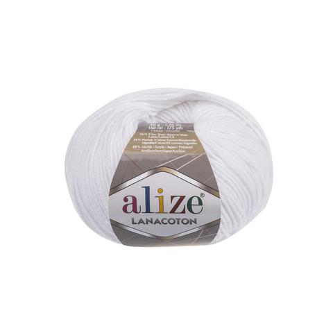 Купить Пряжа Alize Lanacoton Код цвета 055 | Интернет-магазин пряжи «Пряха»