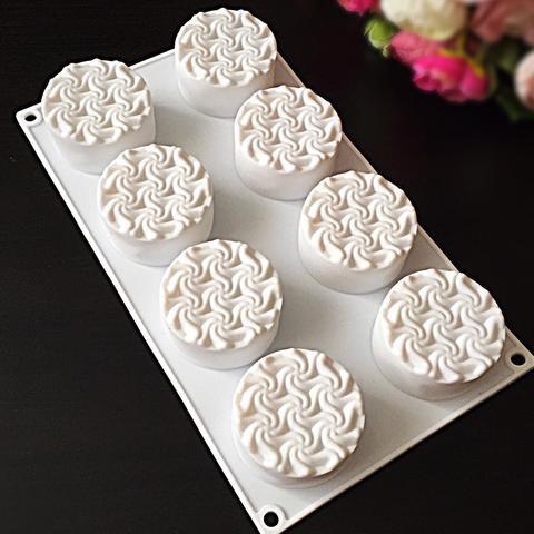 Силиконовая форма для выпечки Вихрь с волнами (Зефир) для пирожных 8в1