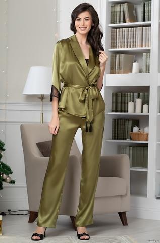 Шелковая пижама-тройка Mia-Amore Olivia 3645 (70% нат.шелк)